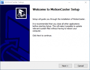 MotionCaster Windows Installation Guide