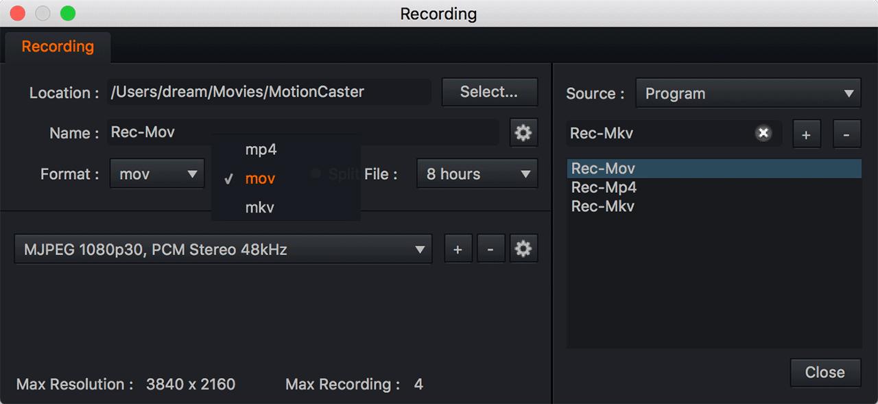 MotionCaster Video Format