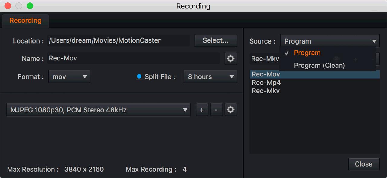 ISO Recording