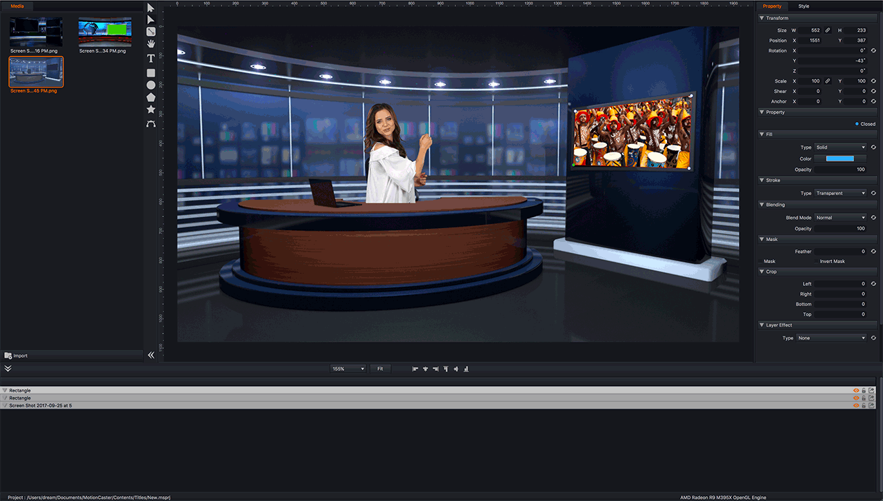 live video generator virtual studio